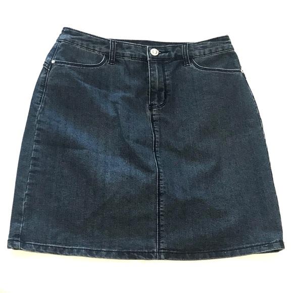 Christopher & Banks Dresses & Skirts - CHRISTOPHER & BANKS blue denim jean skirt 4
